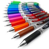 Pentel EnerGel XM BL77 Druck-Gelschreiber, 0,7 mm, 52 % recyceltes Material, 12 Stück, verschiedene Farben